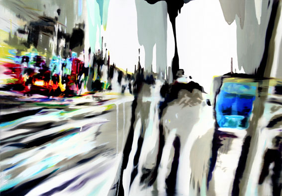 윤혜정_CITY-낯설게 스쳐가다  50x72.7cm  Oil on canvas  2009.jpg