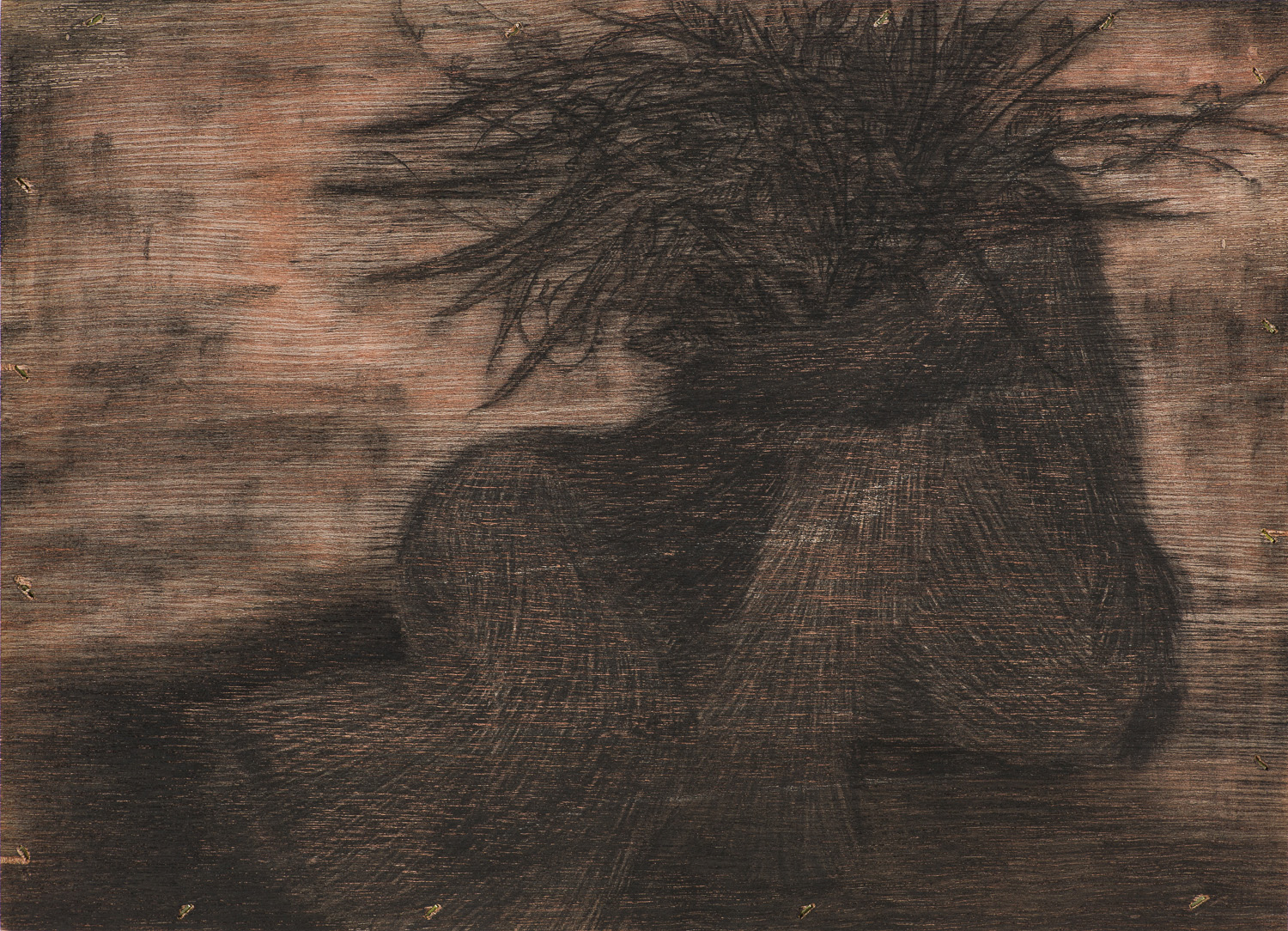 [15p2203] consolation - Regression of Time_conte on wood board_24.2×33.4_2015.jpg